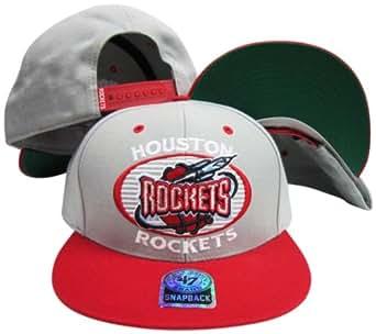 Houston Rockets Gray/Red Tone Plastic Snapback Adjustable Snap Back Hat/Cap