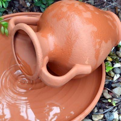 Ánfora/Surtidor de agua en terracota: Amazon.es: Jardín