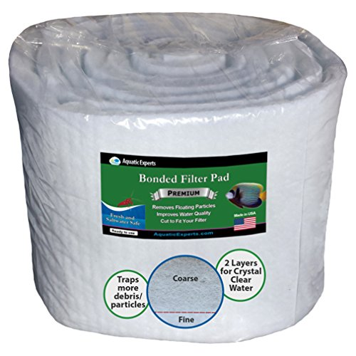 Aquatic Experts Aquarium Filter Media Roll - 12 inch by 12 FEET Long by .75