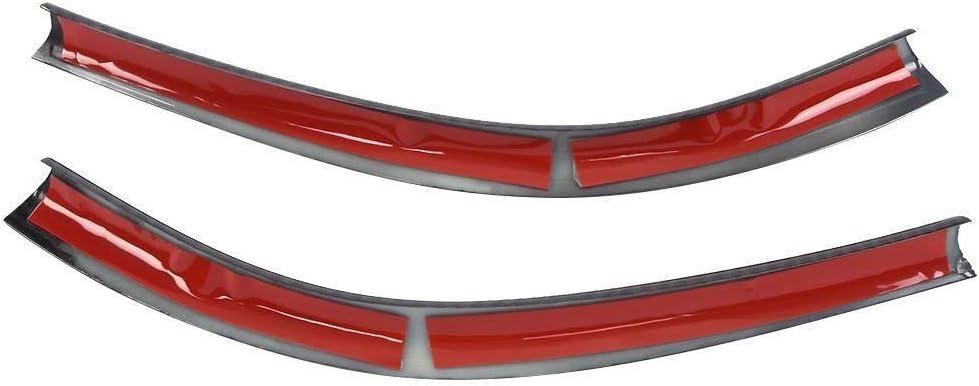 KSTE 2pcs Car Center Console C/ôt/é d/écoration Compatible with Baguettes Mercedes Benz W176 CLA C117 GLA X156