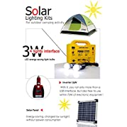Monerator Gusto 20 (256wh) Solar Portable Power Generator Kit With Solar Panel Solar charging and 75W inverter...