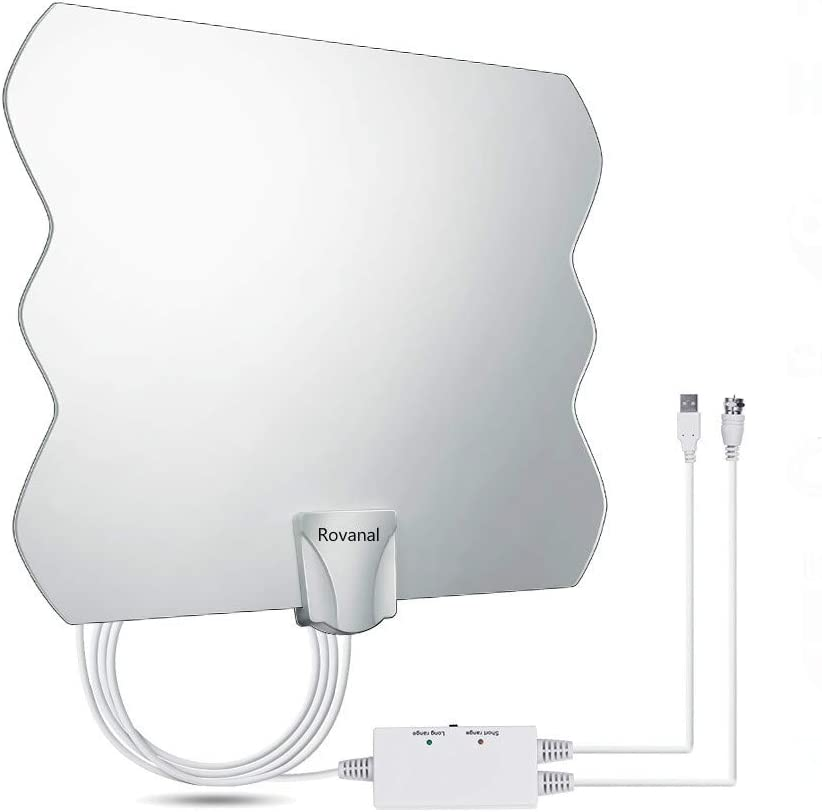 180 Miles TV Antenna, [2021 Upgraded Version] HDTV Antenna - HD Digital TV Antennas Indoor Amplified Signal Booster for 4K 1080P VHF UHF Freeview Local Channels - Long Coaxial Cable