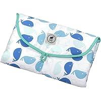 Cambiador para Bebés, Portátil, Impermable, ideal para pañaleras, acolchado, 50 x 70 cm - Blanco y Negro