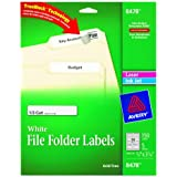 Avery File Folder Labels for Laser and Inkjet Printers, 0.66 x 3.43 Inches, White, Pack of 150 (8478)