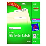 Avery File Folder Labels for Laser and Inkjet Printers, 0.66 x 3.43 Inches, White, Pack of 150 (8478), Office Central