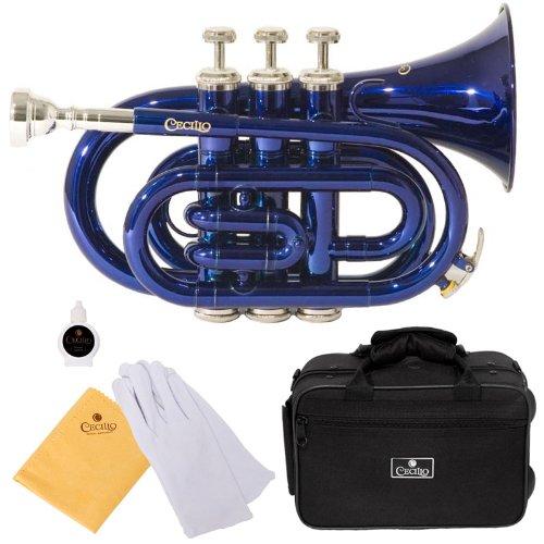 Cecilio Blue Lacquered Bb Pocket Trumpet - PT-280BL