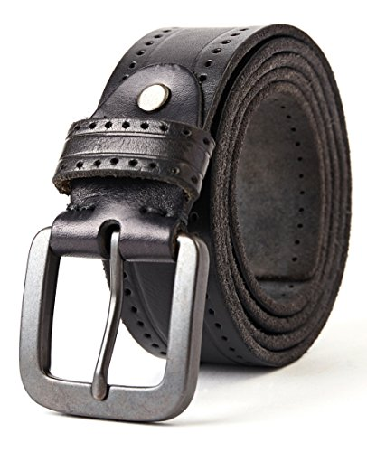 3ZHIYI Cintura Uomo 100/% Vera Pelle di bufalo