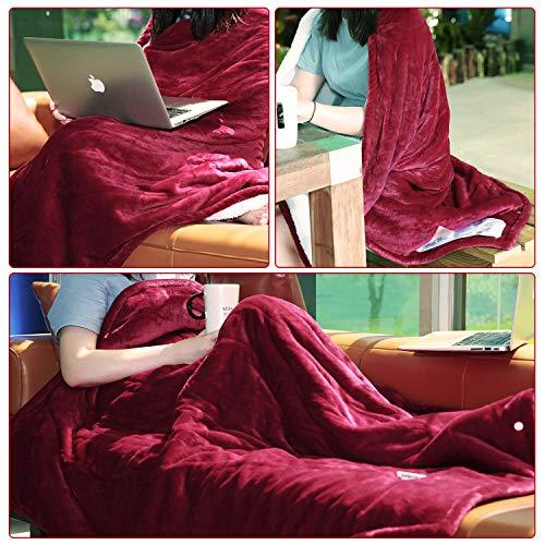"MaxKare Blanket Off, Fast-Heating for Reversible Plush, Three Heat-Level 50"" 60"""