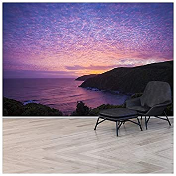 azutura Lila Ozean Fototapete Neuseeland Sonnenuntergang Tapete ...