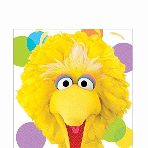 Amscan Big Bird Lunch Napkins (Sesame Street Party Big Bird Lunch Napkins)