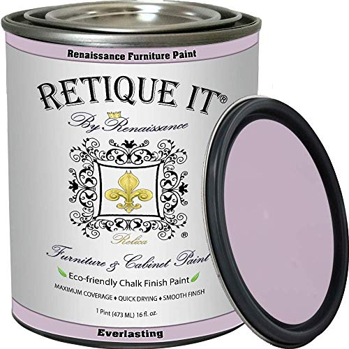 Retique It Chalk Finish Paint by Renaissance, 16 oz (Pint), 31 Everlasting