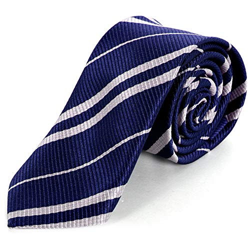 COGGIFEL Striped Tie for Cosplay Party Costume Necktie for Halloween Party Christmas Party Daily Use Costumes Accessories -