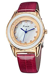 Women Fashion Wristwatch With Crystal-white