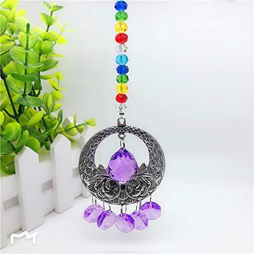 Hot Sale!DEESEE(TM)Vintage Clear Crystal Ball Suncatcher Prisms Pendant Hanging Car Decor Gift (Purple) ()