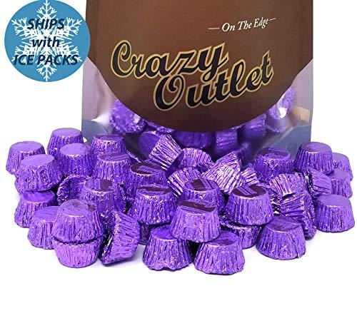 Reese's Purple Foils Milk Chocolate Peanut Butter Cups Miniatures, Candy Bulk, 2lbs]()