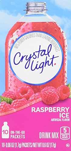 Crystal Light On The Go Raspberry Ice, 10-Packet Boxes (Pack of 4) (Light The Fruit On Crystal Punch Go)