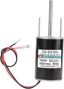 12 / 24V 150W de alta velocidad CW/CCW Imán permanente DC Motor para generador de bricolaje(5500RPM(24V))