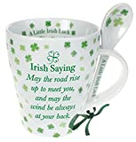 Irish Ceramic Mug And Spoon Set%2C Four