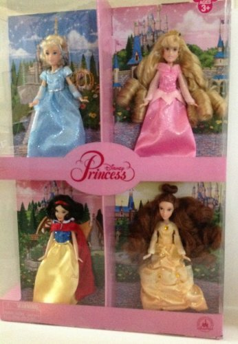 Disney Park Small Princess Doll Set of 4 Cinderella Aurora Belle Snow White NEW