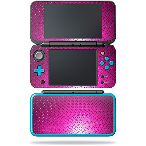 Price comparison product image Skin for New Nintendo 2DS XL - Pink Diamond Plate| MightySkins Protective, Durable, and Unique Vinyl Decal wrap cover | Easy To Apply, Remove, and Change Styles | Made in the USA