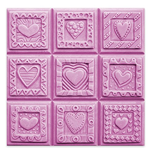 - Milky Way - Crazy Hearts Soap Mold Tray - Melt and Pour - Cold Process - Clear PVC - Not Silicone - MW 50