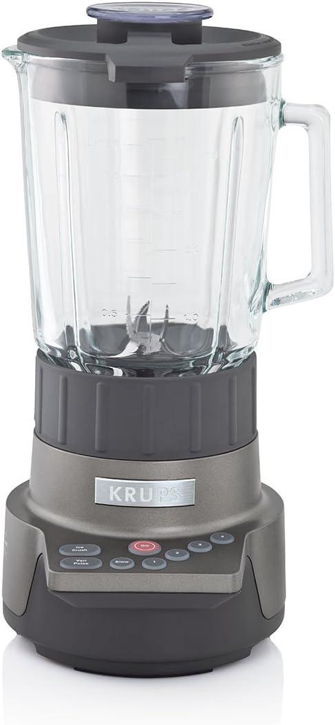 KRUPS KB790 Motor Technik Blender with 6 Powerful Stainless Steel Blades and 7 Programs, Silver