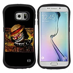 "Pulsar iFace Series Tpu silicona Carcasa Funda Case para Samsung Galaxy S6 EDGE / SM-G925(NOT FOR S6!!!) , Payaso Scary Creepy Art Dibujo Sombrero Nariz"""