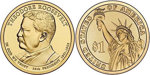 2013-P Theodore Roosevelt - Roll of 25 Presidential Dollars