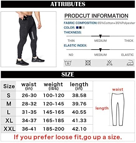 BROKIG Mens Thigh Mesh Gym Jogger Pants, Men's Casual Slim Fit Workout Bodybuilding Sweatpants with Zipper Pocket