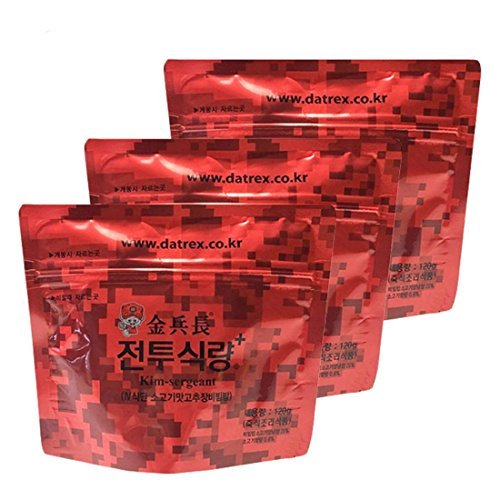 Price comparison product image Korean Military MRE Bibimbap Spicy Beef Rice Food 120g/3pack
