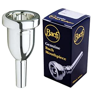 Bach K3411HG Megatone Large Shank Tenor Trombone Mouthpiece, Silver Plated, 1-1/2 G 27.00mm