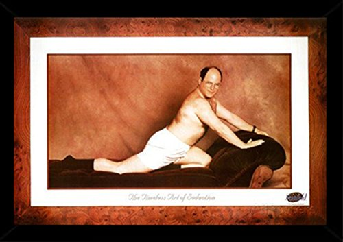 Seinfeld-George Timeless Art Of Seduction Poster in a Black Wood Frame