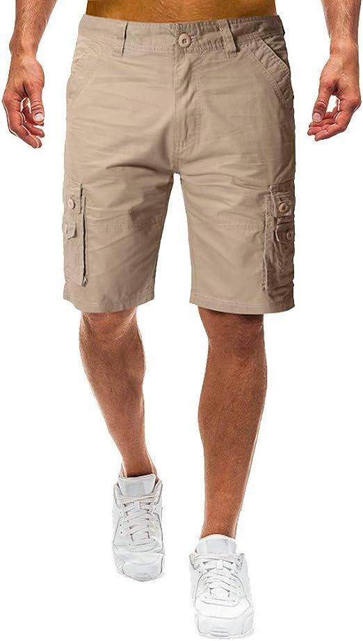 Pantalones Cortos Hombre Verano Casual Moda Trabajo Color ...