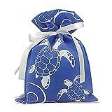 Hawaiian Drawstring Large Gift Bags 3 Pack Honu Turtle Waves