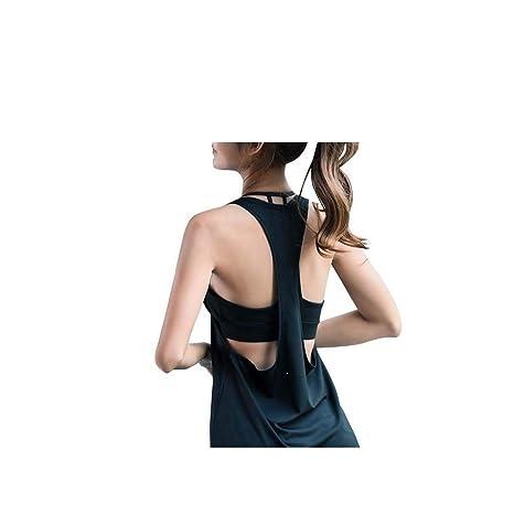 ZFBX Chaleco Deportivo para Mujer Chaleco de Yoga con Parte ...