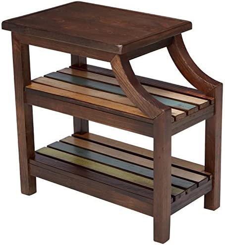 picture of Signature Design by Ashley » Mestler Rustic Chairside End Table, Brown