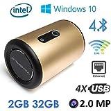 VENSMILE i10 Windows 10 Smart TV Box Mini PC & Media Streaming Player, Intel Atom Quad Core Bay Trail Z3735F 1.8GHz, 2GB