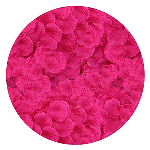 LoveniMen Rose Petals, 2000Pcs Silk Artificial Petals Flowers Home Party Decorations Wedding Bridal Decoration Wholesale Valentine Anniversary Ceremony Rose Red -