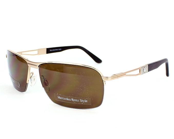 Mercedes-Benz Gafas de Sol 1027B (40 mm) Dorado: Amazon.es ...