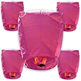 Arts & Crafts : Just Artifacts 40 ECO Wire-Free Flying Chinese Sky Lanterns (Set of 40, Wire-Free Eclipse, Pink) - 100% Biodegradable, Environmentally Friendly Lanterns!