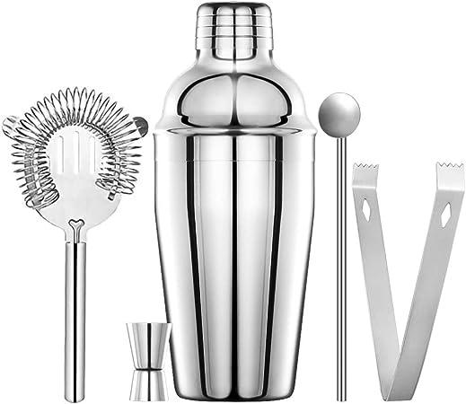 Compra Coctelera para Cócteles coctelera kit cocktail kit 550ML Cocktail Shaker Set de Cocktail Accesorios de Cóctel de Acero Inoxidable 5 Pezzi Juego de Herramientas de Barra de Acero Inoxidable para Bar