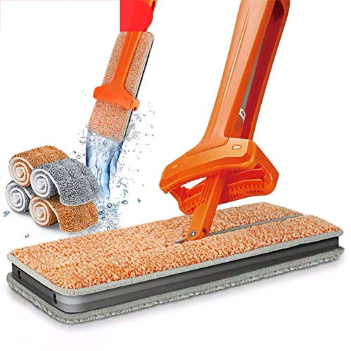 - ZLIJUN Cleaning Tool Double-Sided Lazy Hand-Free Washable Flat Rotatable Mop Dust Push