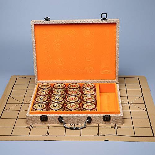 LDYGHome Lujoso Juego De Ajedrez Chino Xiangqi De Madera Hecho A Mano Tradicional Vintage con Caja Portátil para Regalo…