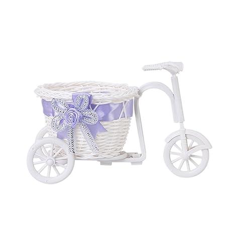 Hecho a mano triciclo/bicicleta cesta de flores para florero y almacenamiento Decoración Regalo Colores. Pasa ...