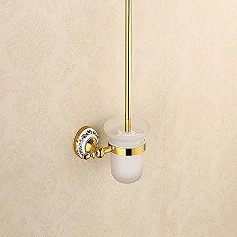 SYDLJ Palanca Euro-Single toallero de acero inoxidable toallas de baño WC Bañera de palanca única percha de oro, porcelana 60*25 toallero: Amazon.es: Hogar