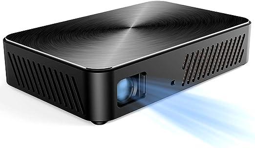 CZWNB Metal Texture Portable proyector Home Outdoor 1080P ...