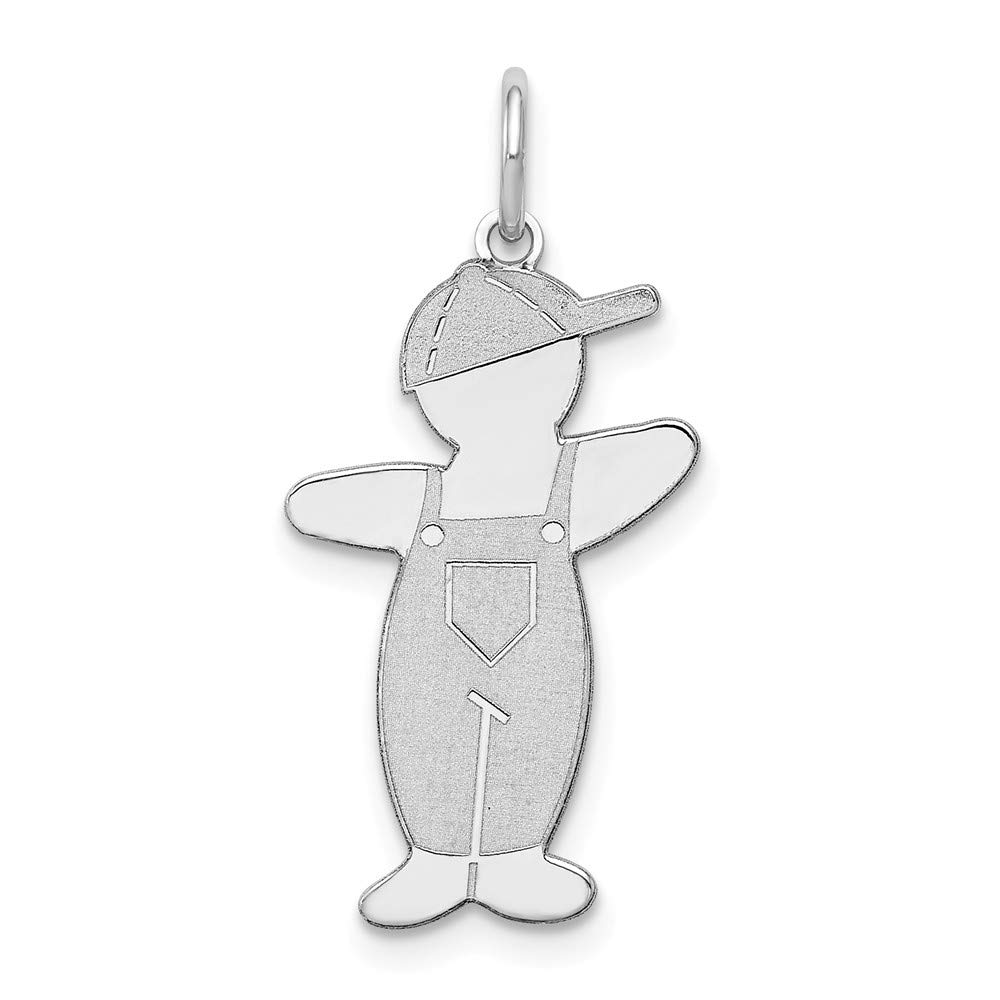 925 Sterling Silver Pee-Wee Cuddle Charm 26mm x 13mm
