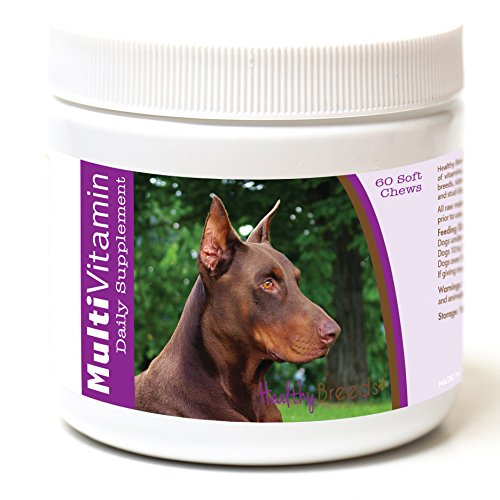 Doberman Pinscher Dog Breed - Healthy Breeds Dog Daily Supplement Soft Chews for Doberman Pinscher, Brown- OVER 200 BREEDS - For Small Medium & Large Breeds - Easier Than Liquid or Powders - 60 Chews