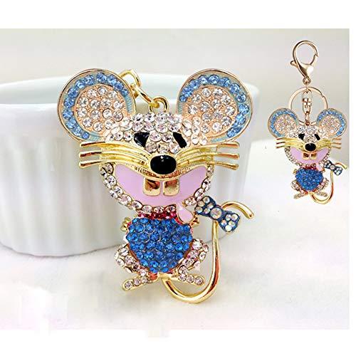 - SA@ Lovely Fashion Bling Crystal Rhinestone Mickey Mouse Key Chain Purse Handbag Bag Decoration Gift