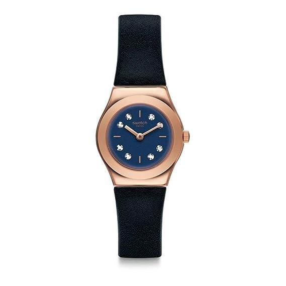Swatch Reloj Analogico para Unisex de Cuarzo con Correa en Cuero YSG152: Amazon.es: Relojes